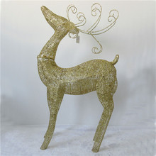 wrought iron crafts Reindeer christmas decorations