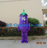 fashion designed vegetable image eggplant cartoon costume for advertising