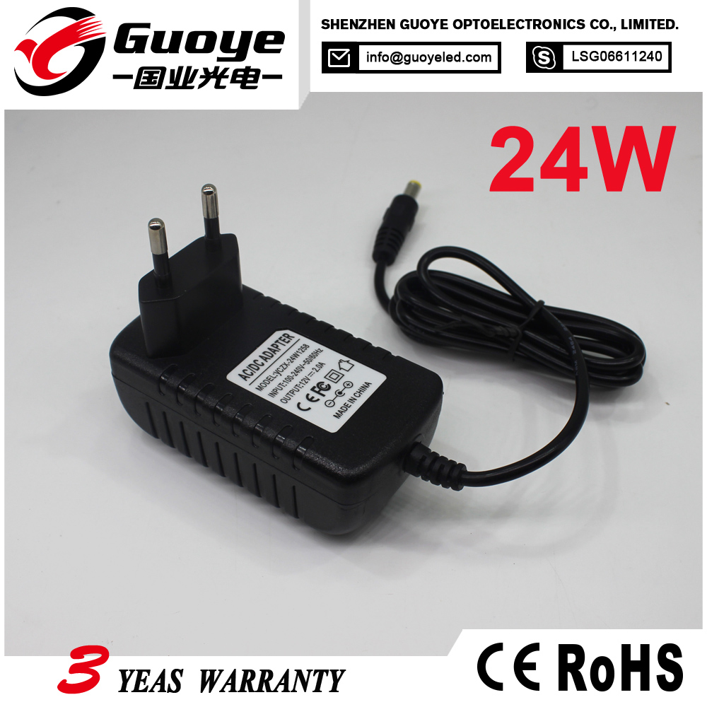 Shenzhen Manufacturer 12v 0.25a led adapter led ac/dc adapter with wholesale price