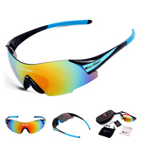 2015 New Men Cycling Eyewear Sunglass Outdoor Cycling Glasses Bicycle Bike UV400 Sports Sun Glasses 5 Lenses original Box