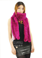 CX-S-03B High Quality Rex Rabbit Fur Fashion Lady Scarf