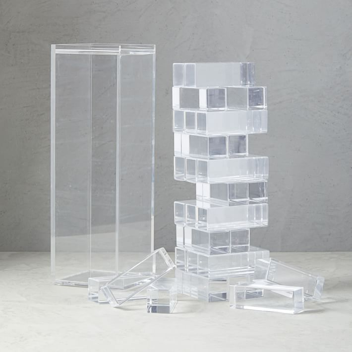 Acrylic block acrylic deco stacking game for shop