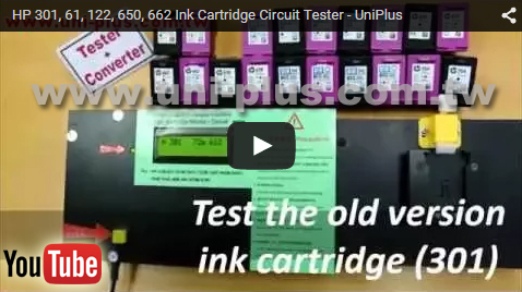 Inkjet cartridge tester for test hp empty ink cartridge