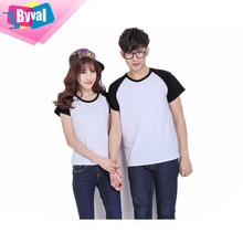 bulk clothing wholesale t shirts custom printing couple cotton 100% t shirts design gym led online shopping