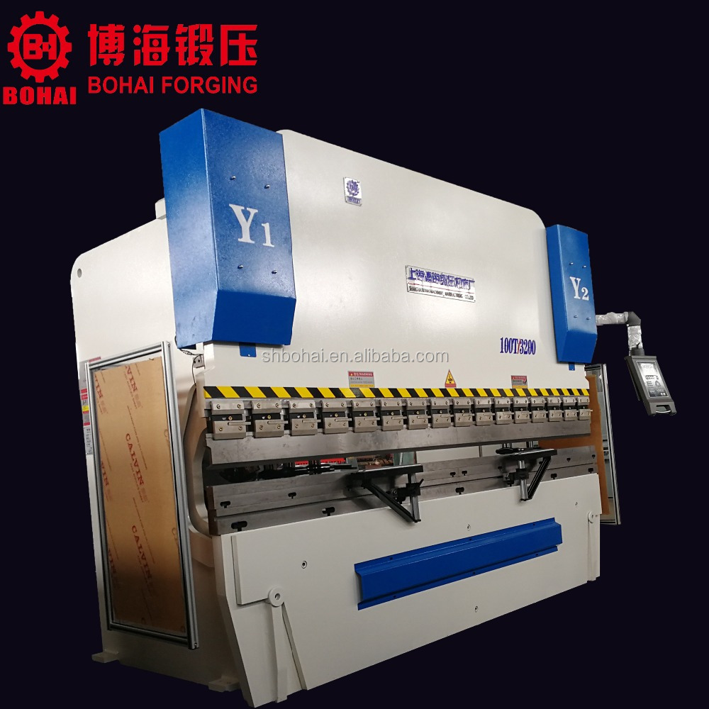 Alibaba Best Manufacturers,4 +1 axis CNC Press Brake 100 tons with Y1 Y2 X <strong>R</strong> Z1 Z2 - axis Crowning with Delem DA52S System