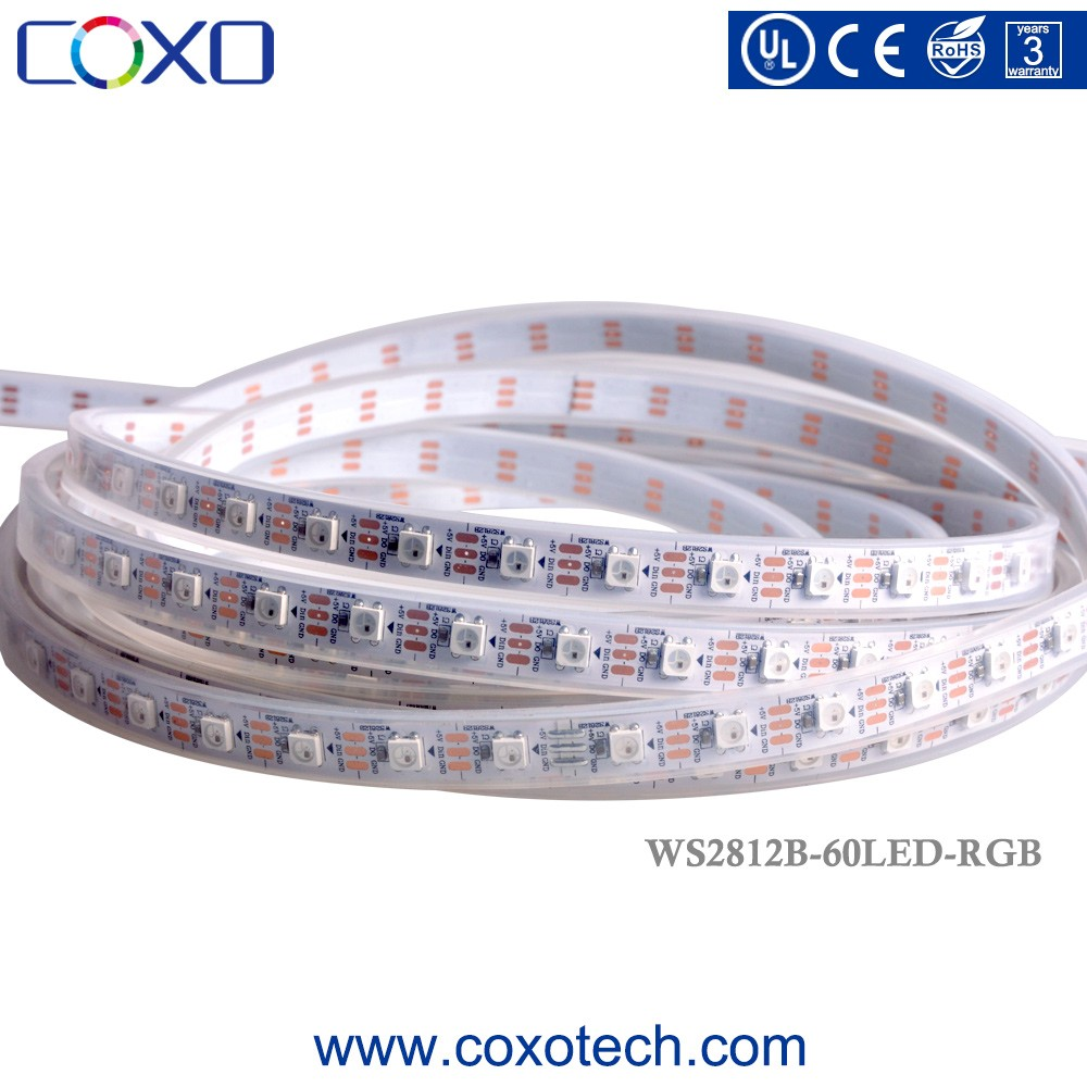 WS2812b WS2813 Pixel Individually Addressable 5050 IP65 Waterproof RGB Led Tape Strip