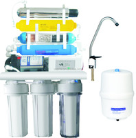 7 stage 10 inch housing auto flush Reverse Osmosis water filter system for home use