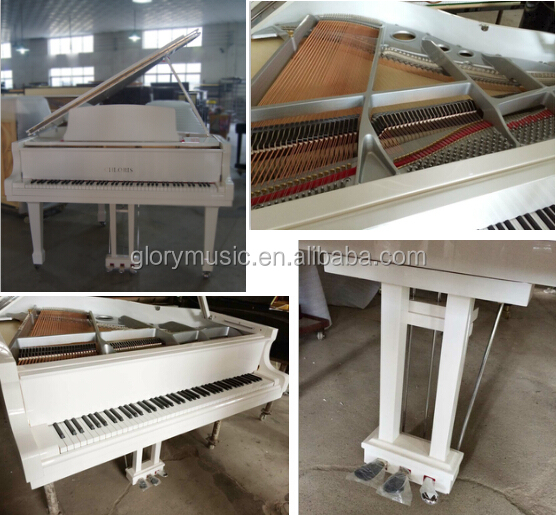 Music Instrument Factory Price Solid Wood Keyboard Material White Baby Grand Piano