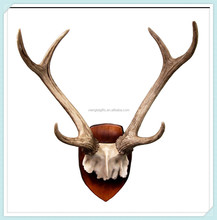 Rustic Deer Skull Antlers Wall Mounted Plaque Decor Figurine