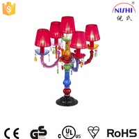 cheap table lamp multicolor modern chandelier table lamp with lampshade NS-121079M