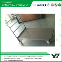 2016 strong 4 wheel zinc with powder heavy duty warehouse cart (YB-F011)