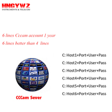 1 Year CCcam Europe 6 Clines Server HD 12 Months account for Spain UK Germany French Italy Poland Satellite Decoder