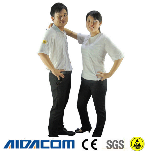 New design, ESD polo shirts, Polyester antistatic ESD T shirts