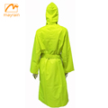 ladies long polyester raincoat with hood