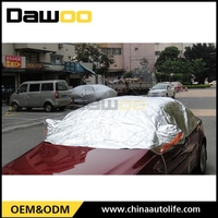 aoto waterproof top sale sun protection half car cover for car roof