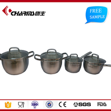 Home High Quality Stainless Steel Capsule Bottom Cookware , Well Equipped Kitchen Cookware Set