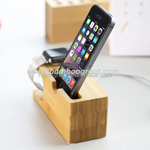 Mobile phone and Watch Bamboo Stand