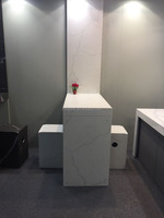 Prefabricated bathroom / flooring/countertop quartz stone