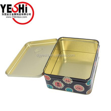 customized printing Candy Small Tin Box with Hinged Lid