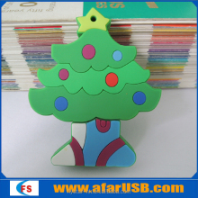 2016 hot gift PVC Christmas Tree Usb Stick 8GB,USB Pen Drive in Xmas Tree Shape with customized logo