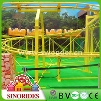Crazy mechanical entertainment equipment amusement rides mini roller coaster car for sale
