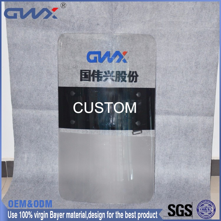 Fight Resistance Safe Bullet Proof Riot Shield Sale/Polycarbonate Round Anti Riot Shield