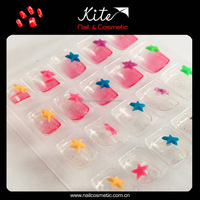 Cute Kids False Nails Acrylic Artificial Fingernails Children Nails Art Design