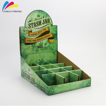customized offset printing supermarket retail paper counter cardboard display