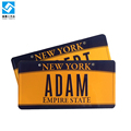 New York vehicle bike name car metal plate number license plate
