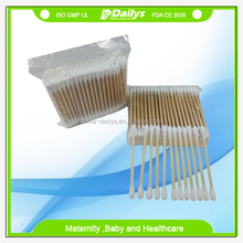 100% cotton bamboo fiber stick swabs in pp box bag