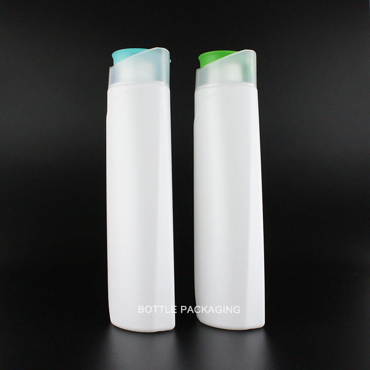 400ml cosmetic packaging products flip cap shampoo conditioner cream lotion shower gel container HDPE empty plastic bottle