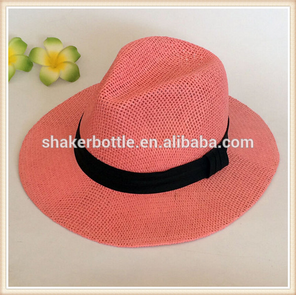Summer Woman Panama Hat With Custom Logo Printing For Outdoor