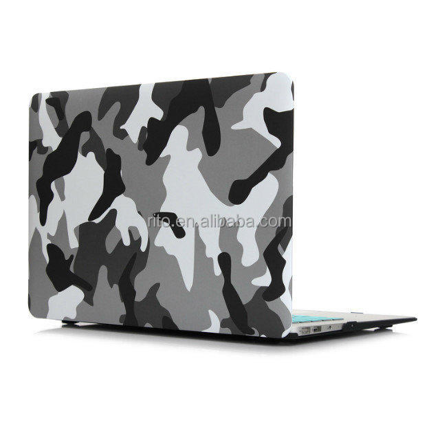Camouflage Computer Case for MacBook Air 11 inch, Rubber Pattern Case for MacBook A1465