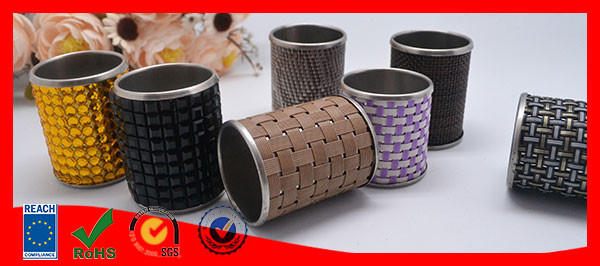 cheap bulk burlap acrylic napkin ring