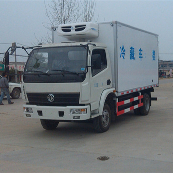 China DONGFENG 4x2 refrigerator cargo truck container truck dimension for sale