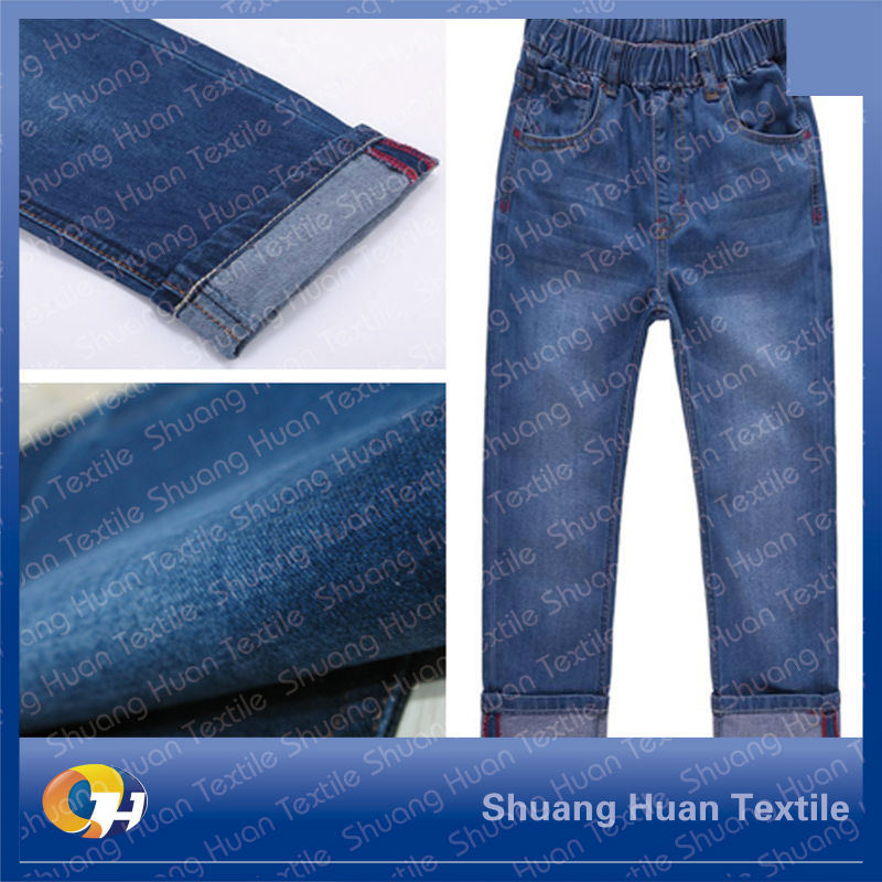SH-W629 9.8oz Print Warp And Weft Slub Cotton Stretch Denim Fabric