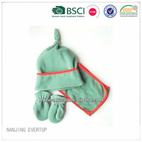 Kids lovely polar fleece hat,scarf and mitten set