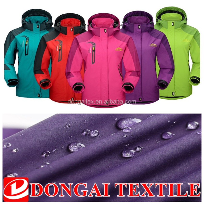 outdoor faric breathable waterproof windproof fabric for sportswear/ jacket