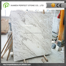 Vein cut white volakas marble dining table & flooring tile for sale