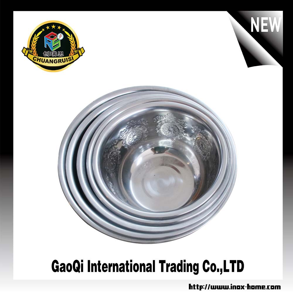 High quality and cheap stainless steel deep finger bowl with lid for washing hand and face