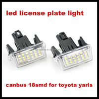 car auto accessories lamp white led license plate light for toyota yaris