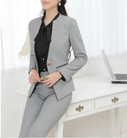 W70798G elegant office formal suits for plus size women trendy business suits for women 2015 newest style