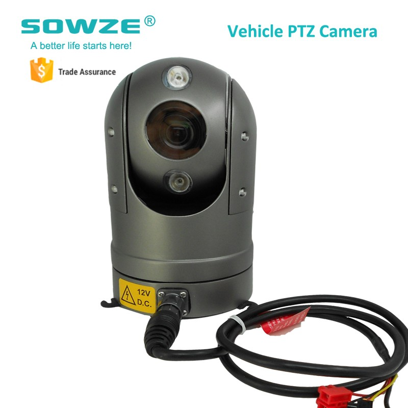 Outdoor 1080P Hd Ip Ptz Vehicle Camera Pan Tilt 20X/30X Zoom For Car Boat