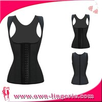 black full body leather corset with strap,body slim waist shaper corset,black shaper corset