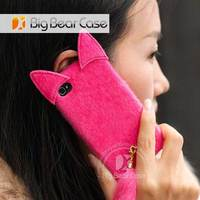 Fur phone case supply 3d cell phone case for iphone and samsung