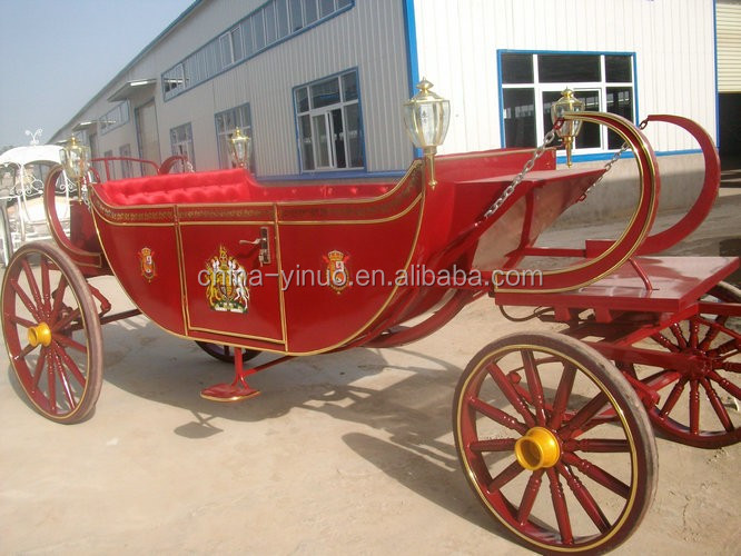 Yizhinuo High quality 4 wheels royal horse drawn carriage for wedding for exhibition