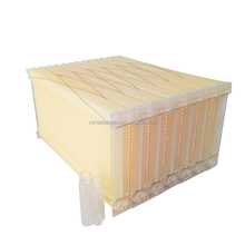 7Pcs Auto Flow Bee Comb Beehive Frames Auto Flow Honey Plastic Flow Honey Beekeeping Beehive with 7 Harvest Tubes and a Harvest