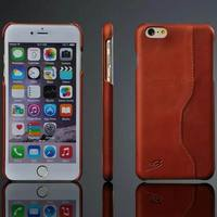 Genuine Leather Back Cover Case for iPhone 6 6 Plus Fashion Exquisite with Card Slots