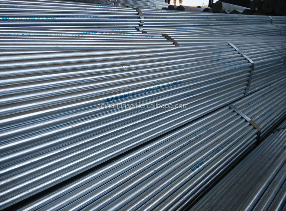 China products greenhouse galvanized steel pipe for greenhouse frame
