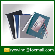 Customized colorful pp plastic cover pocket file folder with swing clip